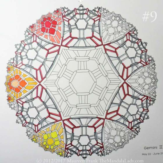 Gemini Mandala - Astrology Sign - The Mandala Lady