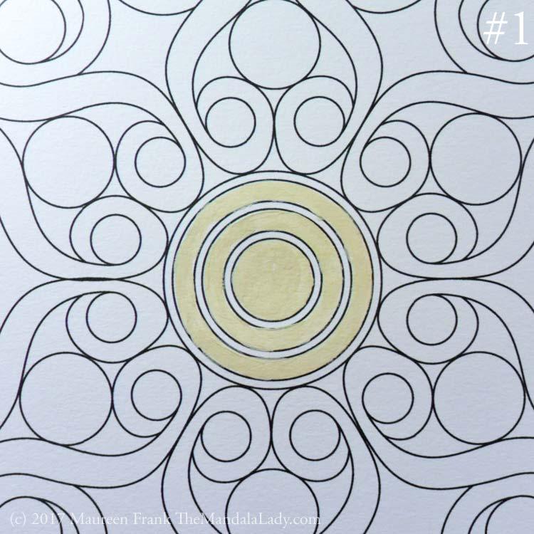Double Spirals Mandala - The Mandala Lady - Mandala of the Month
