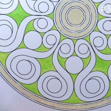 Double Spirals Mandala - The Mandala Lady - Mandala of the Month - green