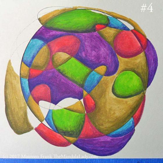 Stress Mandala - Doodle Mandala - Overwhelm