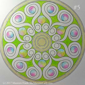 Double Spirals Mandala - The Mandala Lady - Mandala of the Month
