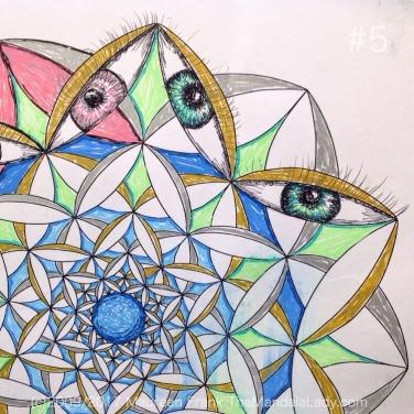 Fly Away With Me Mandala - The Mandala Lady - Eyes - Wings
