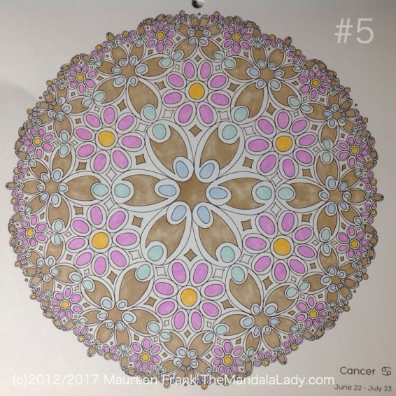 Astrological Sign of Cancer Mandala - The Crab