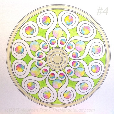 Double Spirals Mandala - The Mandala Lady - Mandalas to Color