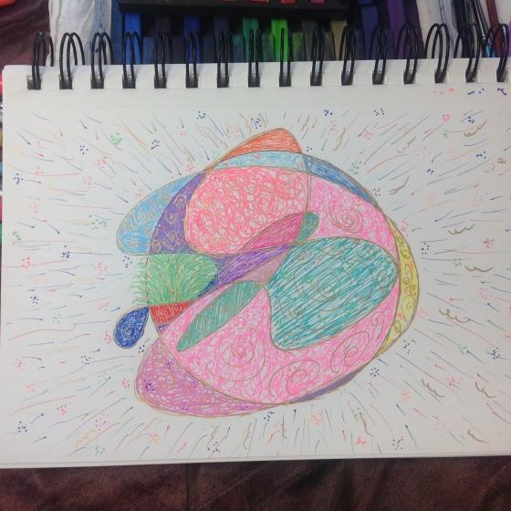 Doodle Mandala - Birthday Mandala - Celebration