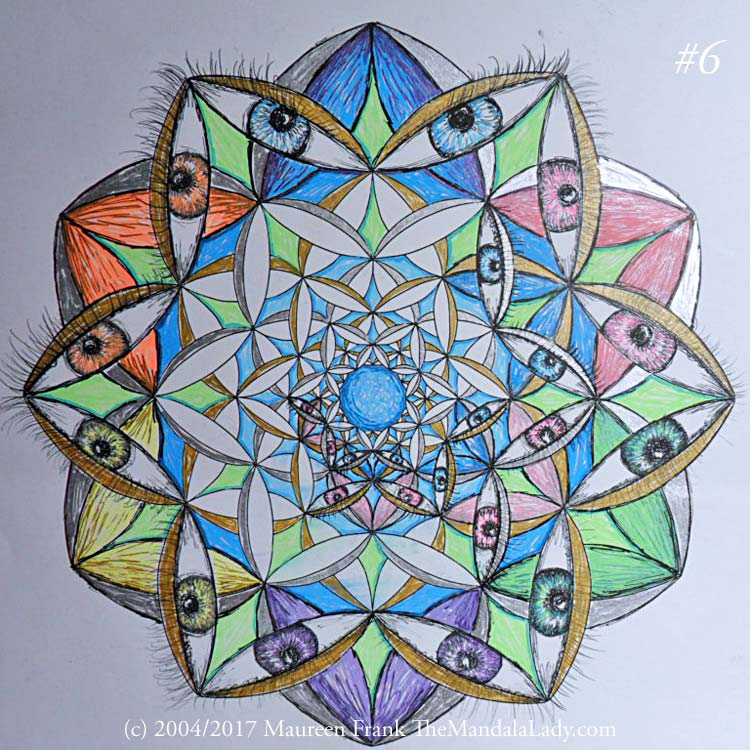 Fly Away With Me Mandala - The Mandala Lady - Eyes - Wings