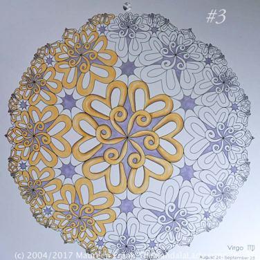 Astrological Sign of Virgo Mandala - The Virgin - The Mandala Lady