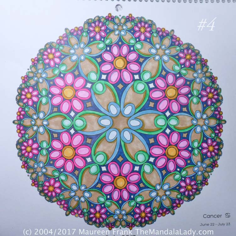 Astrological Sign of Cancer Mandala - The Crab - The Mandala Lady
