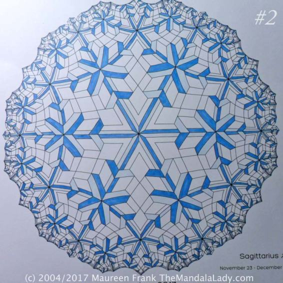 Astrological Sign of Sagittarius Mandala - The Sagittarius - The Mandala Lady