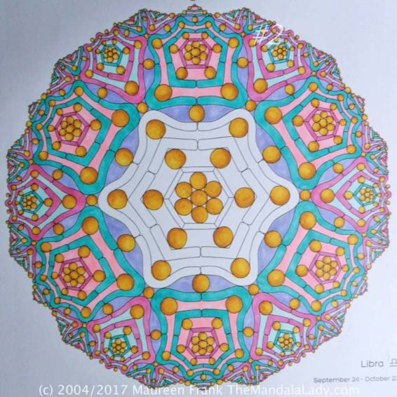 Astrological Sign of Libra Mandala - The Scales of Justice - The Mandala Lady