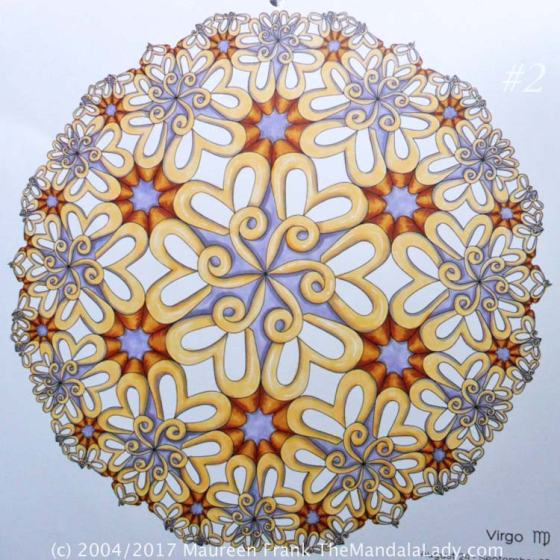 Astrological Sign of Virgo Mandala - The Virgin - The Mandala Lady